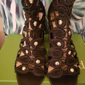 Sam Edelman Black Heels 9.5 Studded